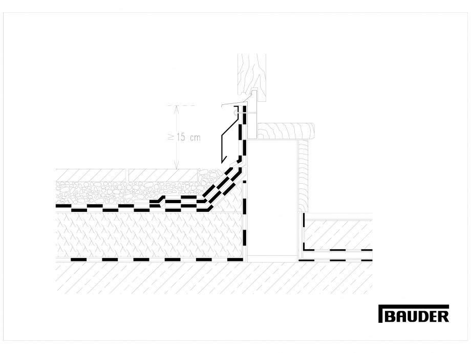 Pagina 1 - CAD-DWG Termoizolatie terase circulabile 3 BAUDER Detaliu de montaj