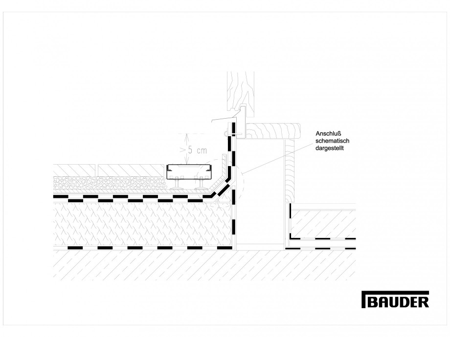 Pagina 1 - CAD-DWG Termoizolatie terase circulabile 4 BAUDER Detaliu de montaj