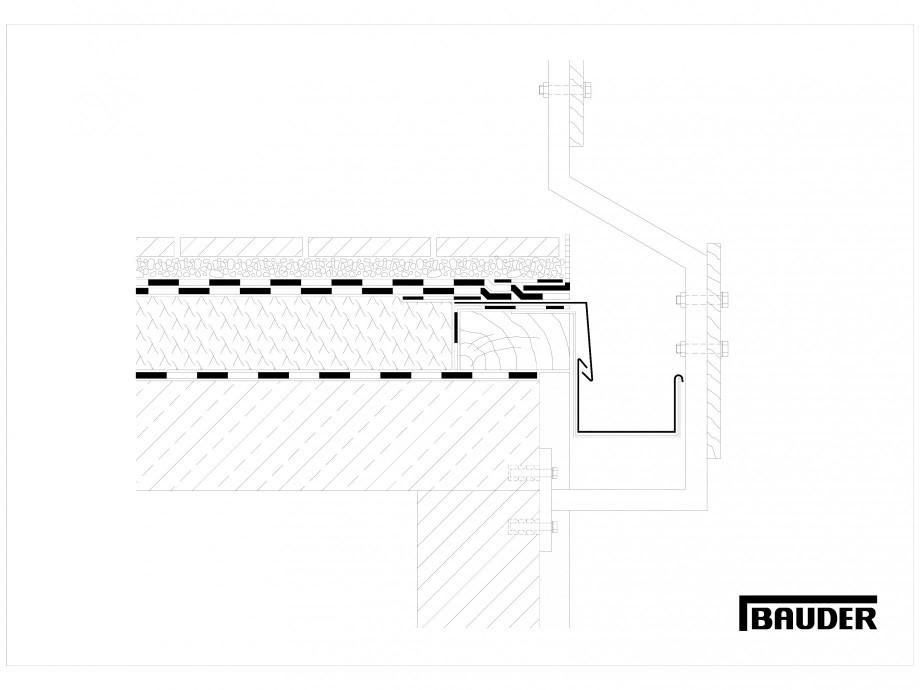 Pagina 1 - CAD-DWG Termoizolatie terase circulabile 5 BAUDER Detaliu de montaj