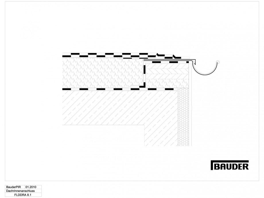 Pagina 1 - CAD-DWG Termoizolatie terase necirculabile 1 BAUDER Detaliu de montaj