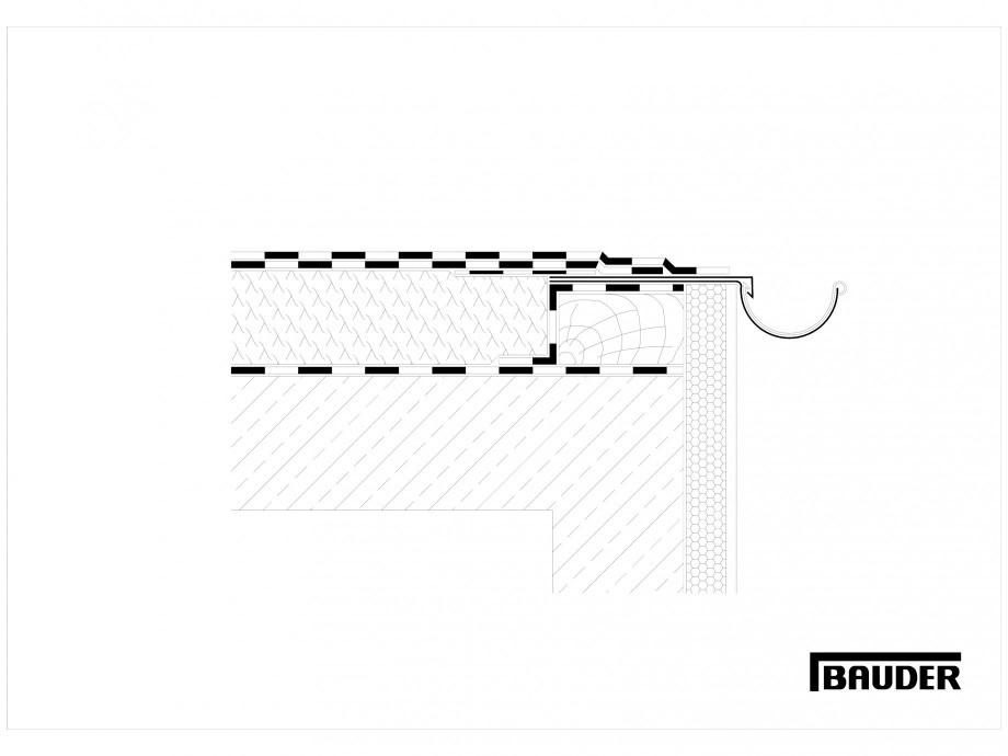 Pagina 1 - CAD-DWG Termoizolatie terase necirculabile 2 BAUDER Detaliu de montaj