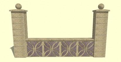 Gard spalat floris Spalat Modele de gard