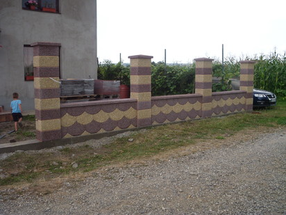 Gard model fagure Spalat Gard modular din beton