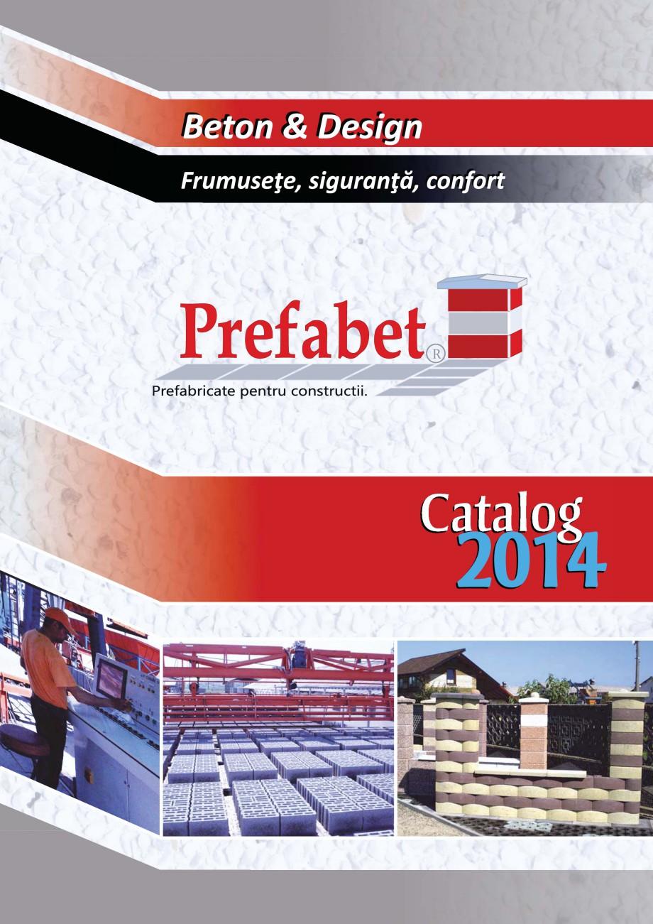 Catalog, brosura Prefabricate din beton pentru constructii Banci, Cos de gunoi, Bolarzi Prefabet Mobilier urban PREFABET SUCEAVA  - Pagina 1