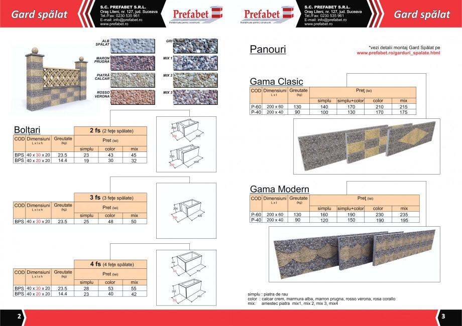 Catalog, brosura Prefabricate din beton pentru constructii Banci, Cos de gunoi, Bolarzi Prefabet Mobilier urban PREFABET SUCEAVA  - Pagina 3