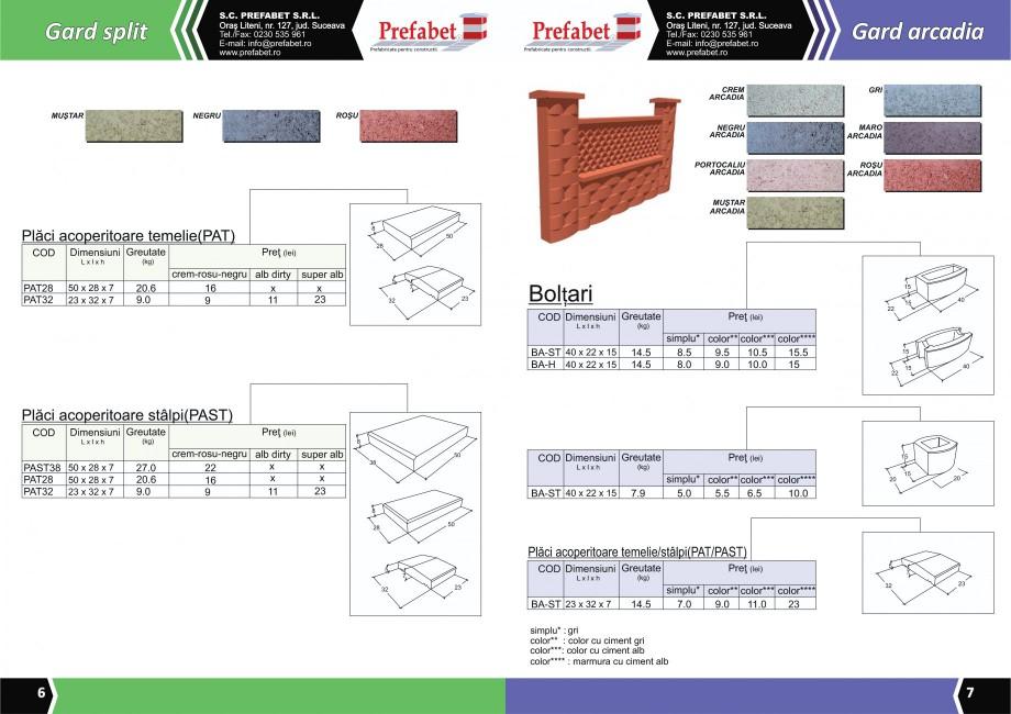 Catalog, brosura Prefabricate din beton pentru constructii Banci, Cos de gunoi, Bolarzi Prefabet Mobilier urban PREFABET SUCEAVA  - Pagina 5