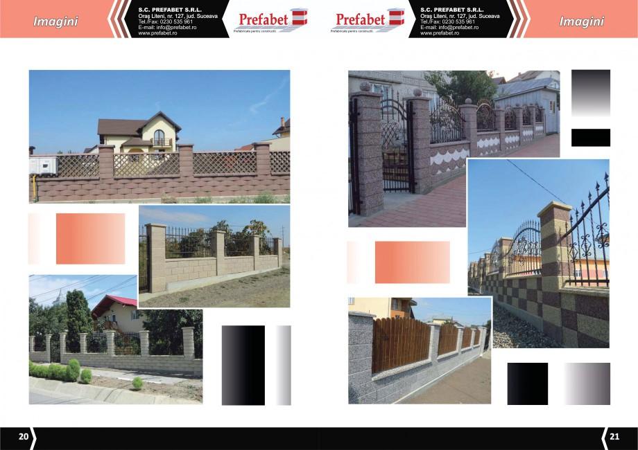 Catalog, brosura Prefabricate din beton pentru constructii Banci, Cos de gunoi, Bolarzi Prefabet Mobilier urban PREFABET SUCEAVA  - Pagina 12