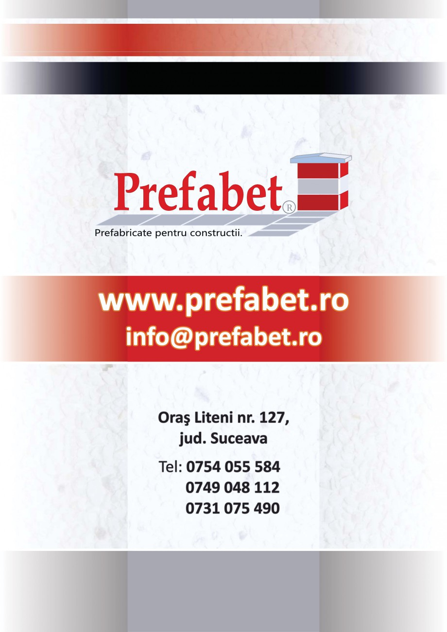 Catalog, brosura Prefabricate din beton pentru constructii Banci, Cos de gunoi, Bolarzi Prefabet Mobilier urban PREFABET SUCEAVA  - Pagina 15