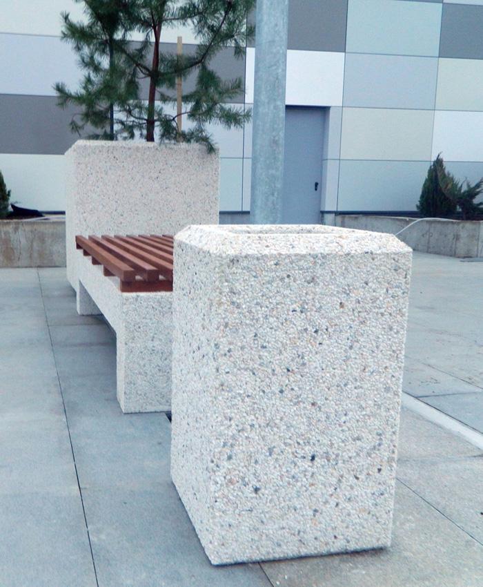 Prezentare produs Cos de gunoi din beton Prefabet - Poza 5