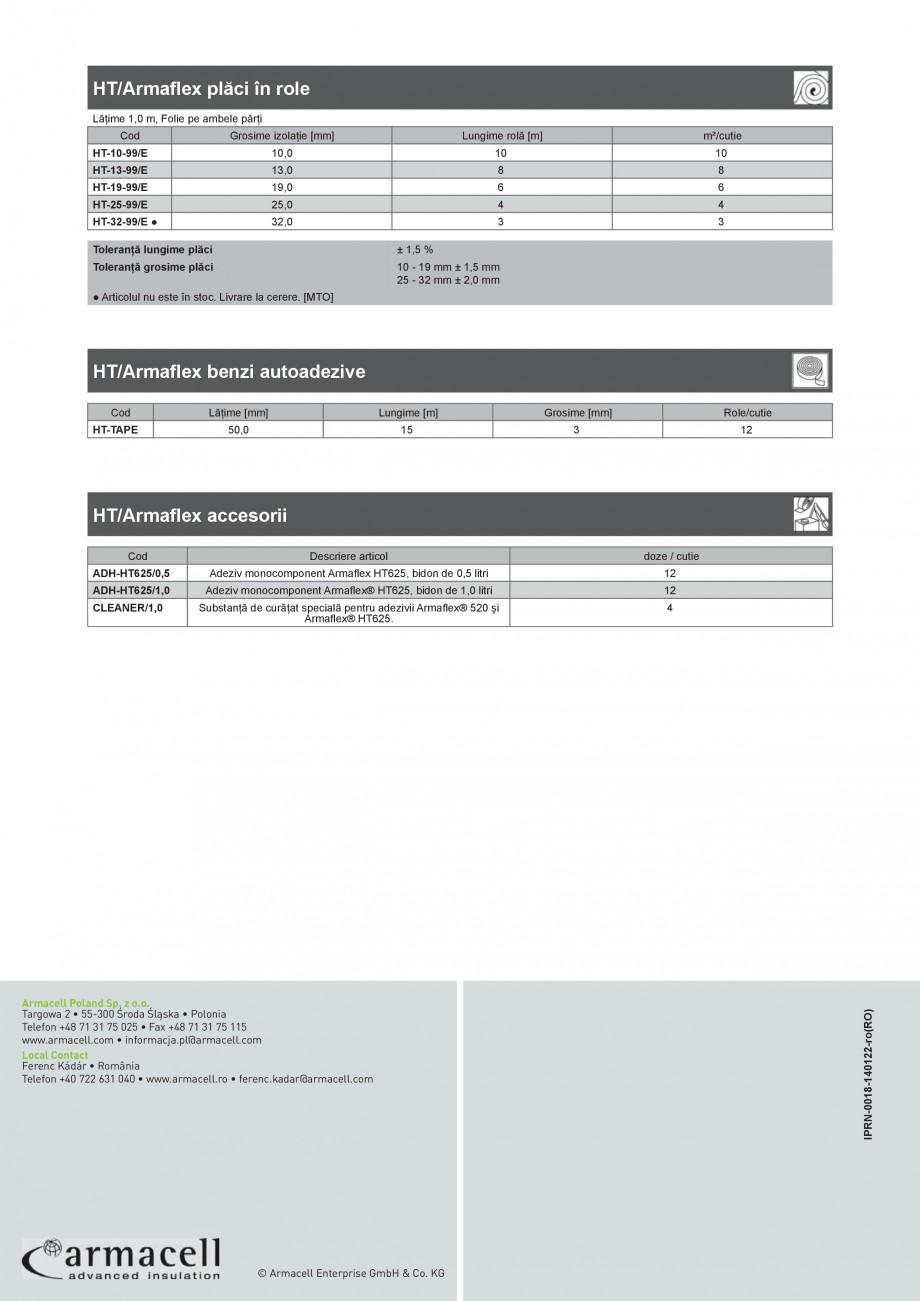 Pagina 4 - Izolatie elastomerica flexibila pentru sisteme de incalzire ARMACELL Armaflex HT Fisa...