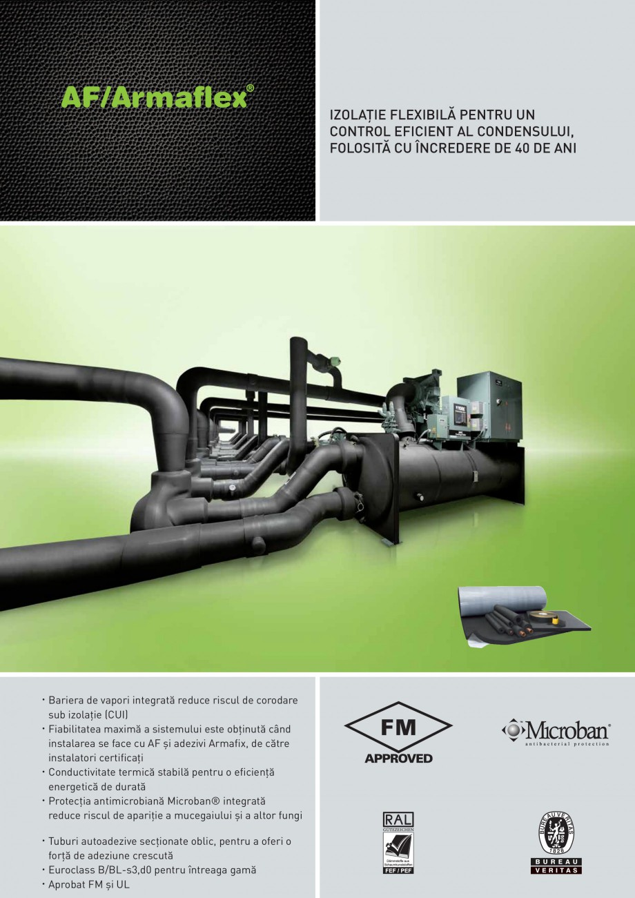 Pagina 1 - Termoizolatie din cauciuc elastomeric anticondens ARMACELL Armaflex AF Fisa tehnica...