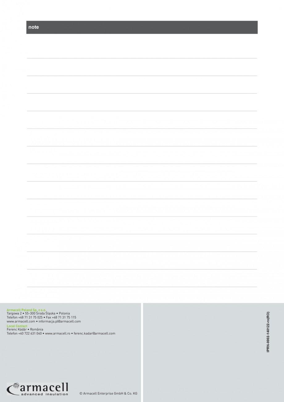 Pagina 10 - Termoizolatie din cauciuc elastomeric anticondens ARMACELL Armaflex AF Fisa tehnica...