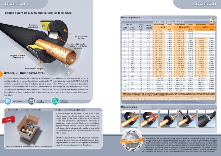 Pagina 2 - Suporturi pentru teava ARMACELL Armaflex AF Fisa tehnica Romana  de temperaturi...