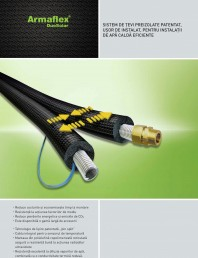 Sistem de tevi preizolate cu cauciuc elastomeric