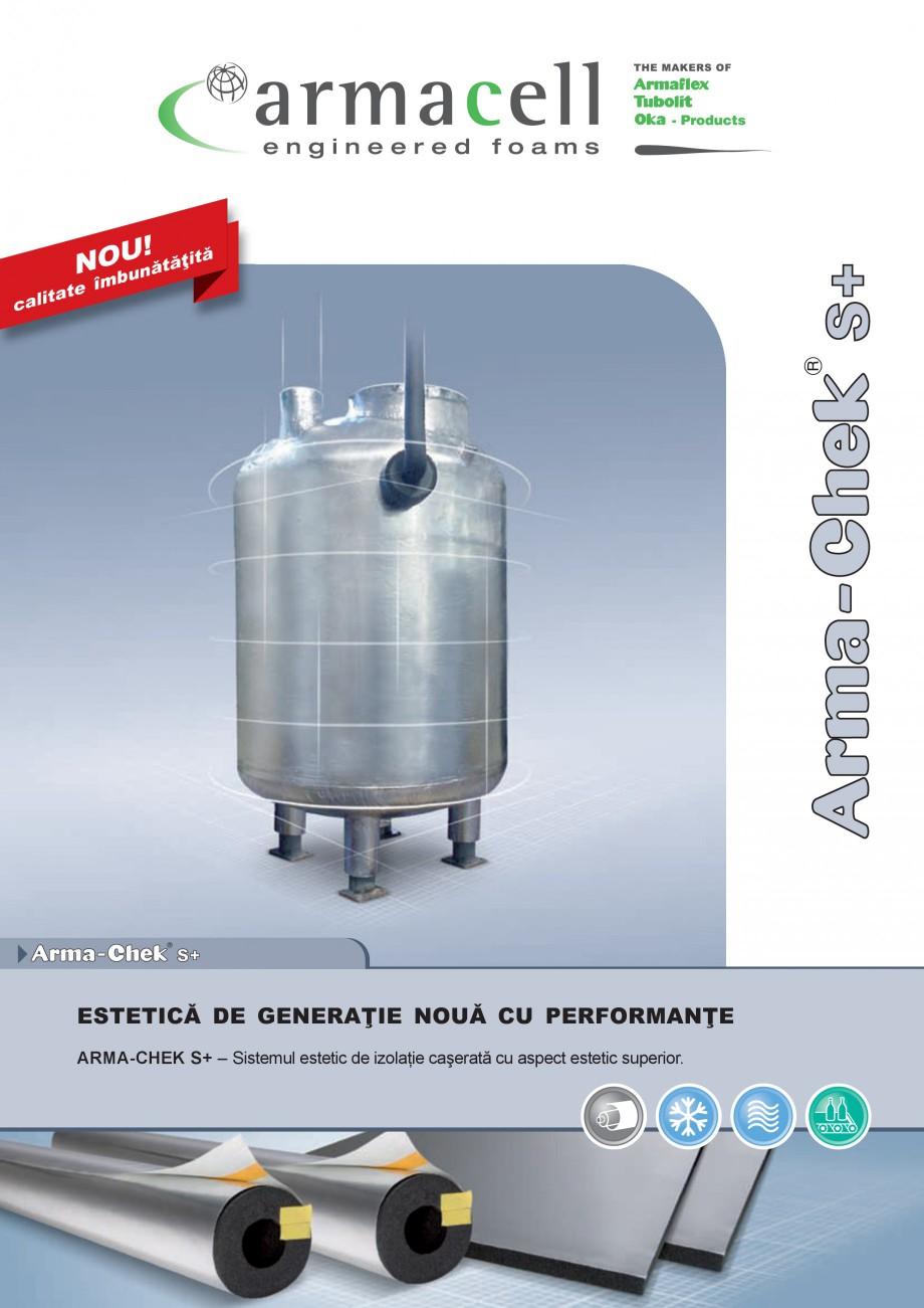 Pagina 1 - Izolatie din elastomer cu aluminiu ARMACELL Arma-Check S+ Fisa tehnica Romana U!...