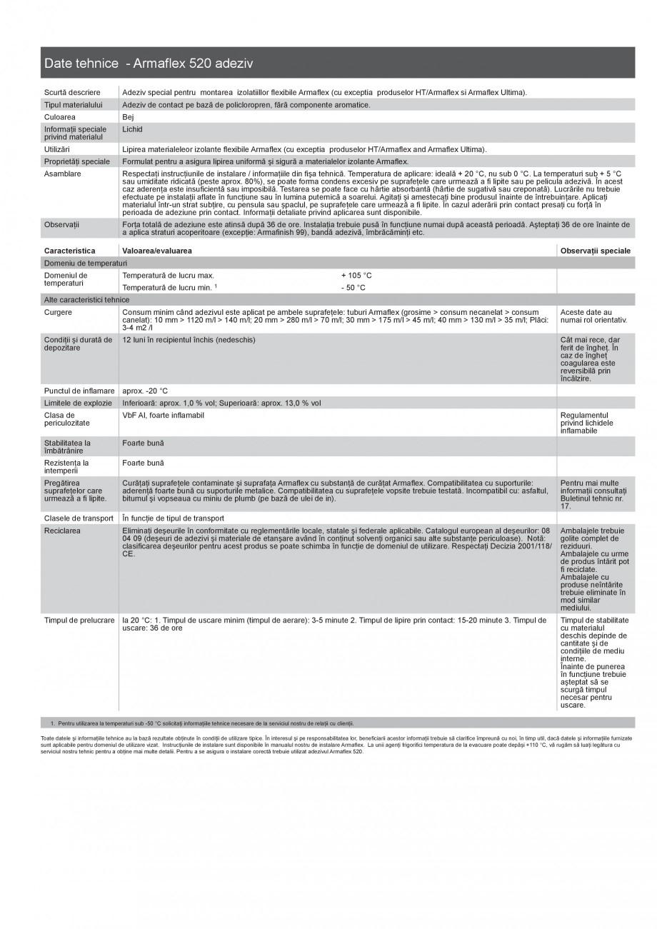Pagina 2 - Scule si accesorii pentru produsele Armaflex ARMACELL Armaflex HT625, ARMAFLEX 520,...
