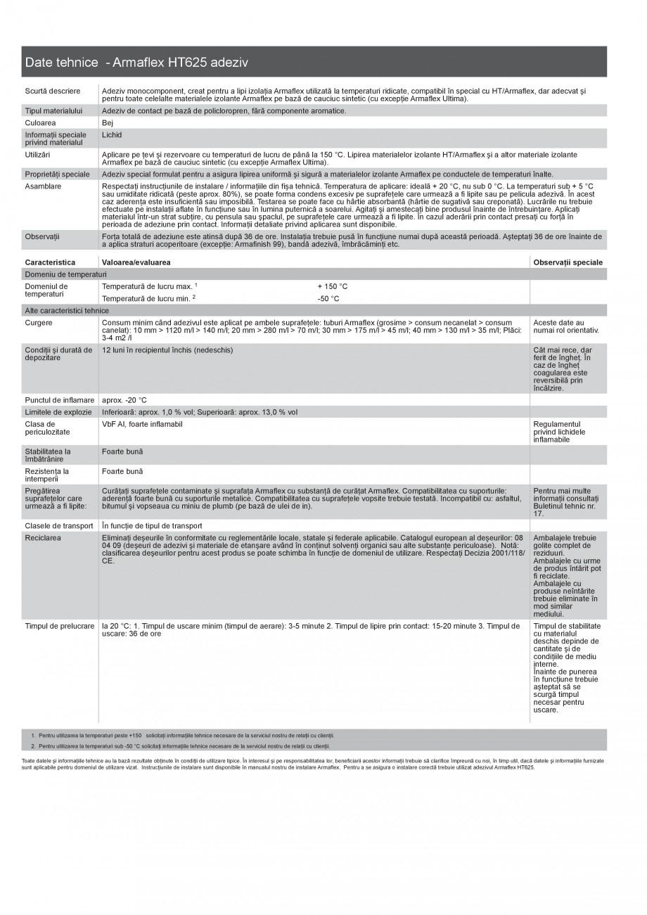 Pagina 3 - Scule si accesorii pentru produsele Armaflex ARMACELL Armaflex HT625, ARMAFLEX 520,...