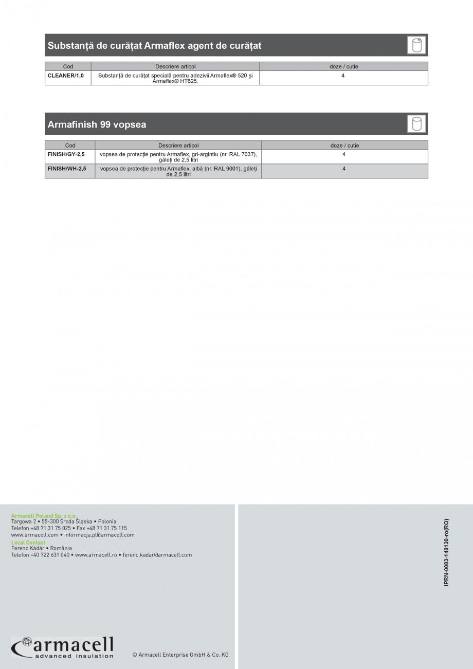 Pagina 8 - Scule si accesorii pentru produsele Armaflex ARMACELL Armaflex HT625, ARMAFLEX 520,...