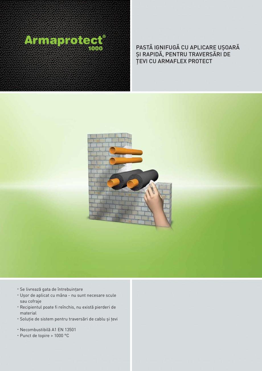 Pagina 1 - Pasta ignifuga rezistenta la temperaturi inalte ARMACELL Armaprotect 1000  Fisa tehnica...