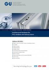 Feronerie pentru ferestre si usi balcon din PVC - 17009 G-U BKS