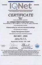 Certificat ISO 9001-2000