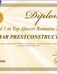 Locul 1 in Top Afaceri Romania 2013