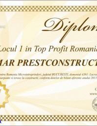 Locul 1 in Top Profit Romania 2012