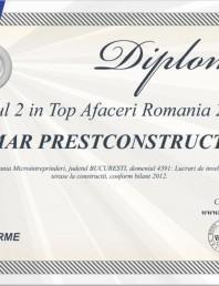 Locul 2 in Top Afaceri Romania 2013