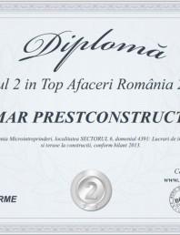 Locul 2 in Top Afaceri Romania 2014