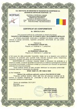 Parapete deformabile Tip FOARTE GREU - Certificat de conformitate PROINVEST