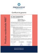 Jgheaburi si burlane - Certificat garantie PROINVEST