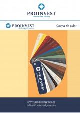 Tigla metalica - Gama de culori Proinvest Group PROINVEST