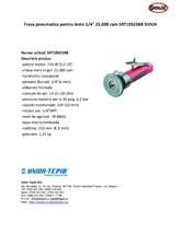 Freza pneumatica pentru lemn 1 4 toli 25.000 rpm SNAP-ON