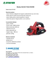 Rindea electrica 910 W STAYER