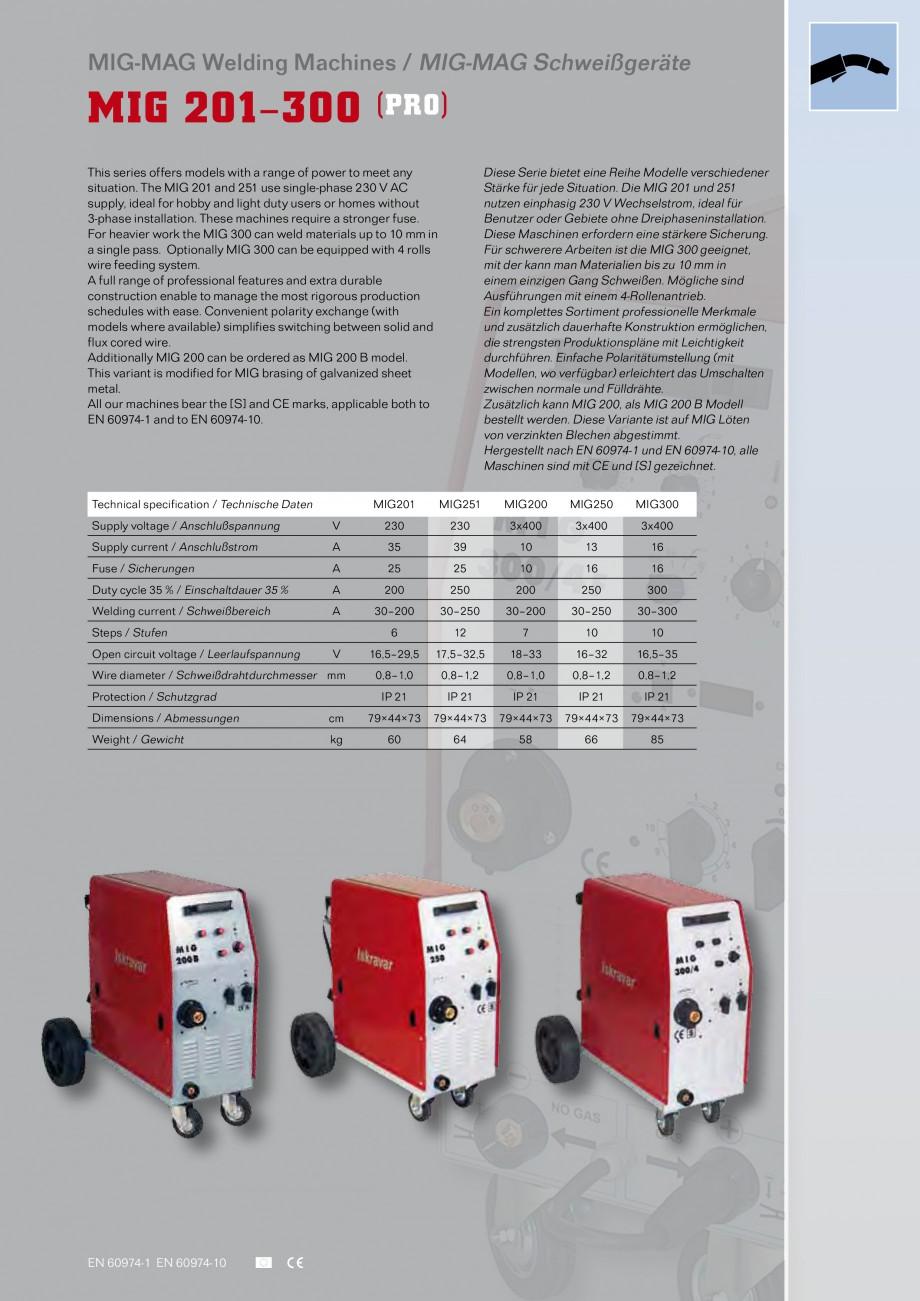 Pagina 2 - Aparate de sudura MIG Iskra VARJENJE MIG 200, MIG 200 B Catalog, brosura Engleza, Germana...
