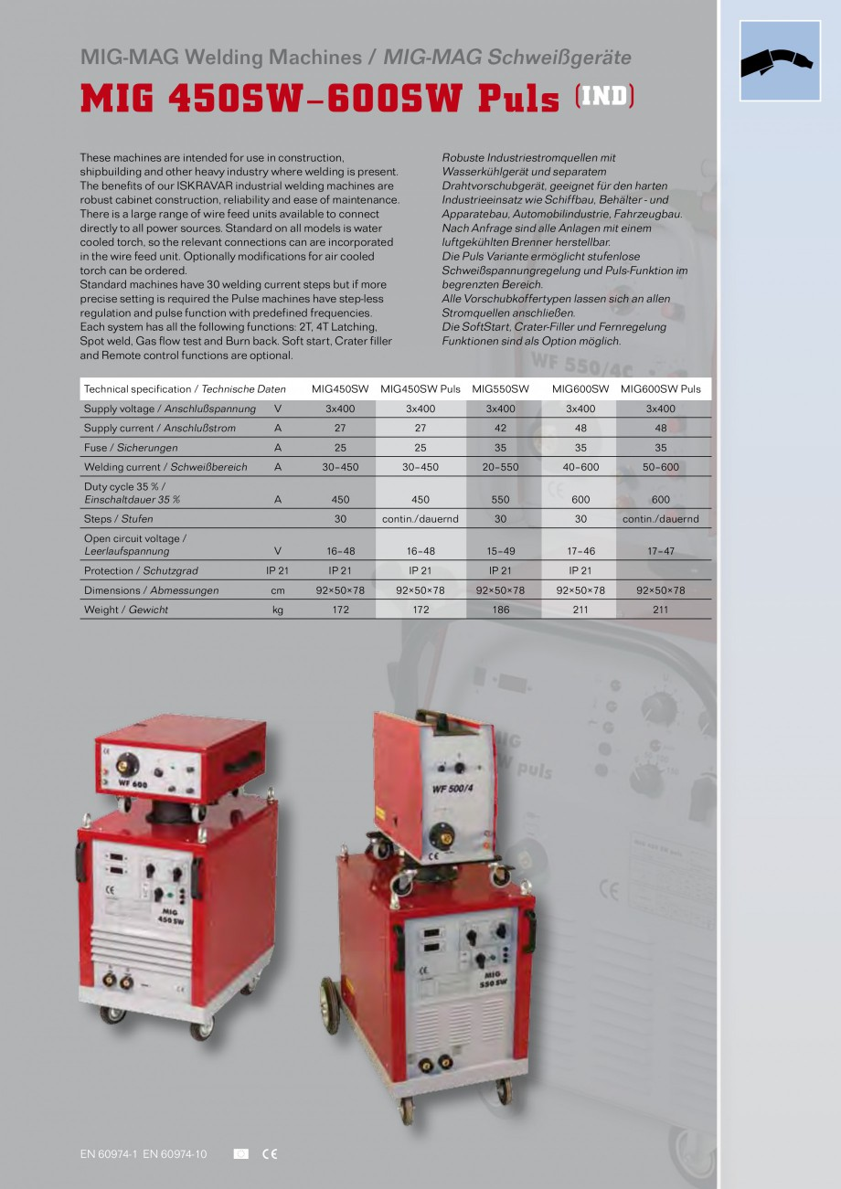 Pagina 9 - Aparate de sudura MIG Iskra VARJENJE MIG 150, MIG 170, MIG 200 B, MIG 200, MIG 210 L...