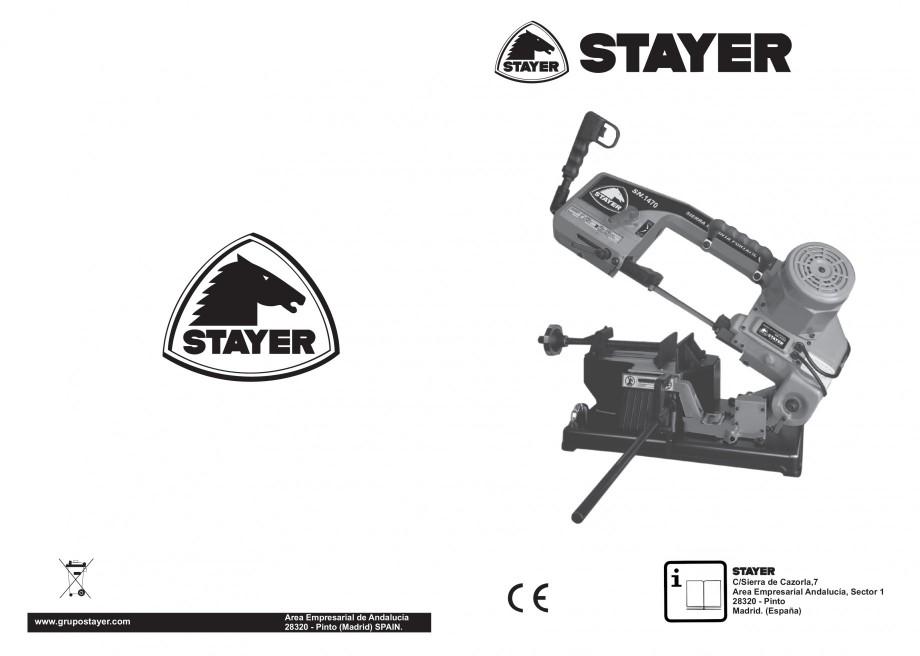 Pagina 1 - Fierastrau cu banda continua 1470x13x0.65 mm, motor prin inductie 0,5 CP - Manual STAYER ...