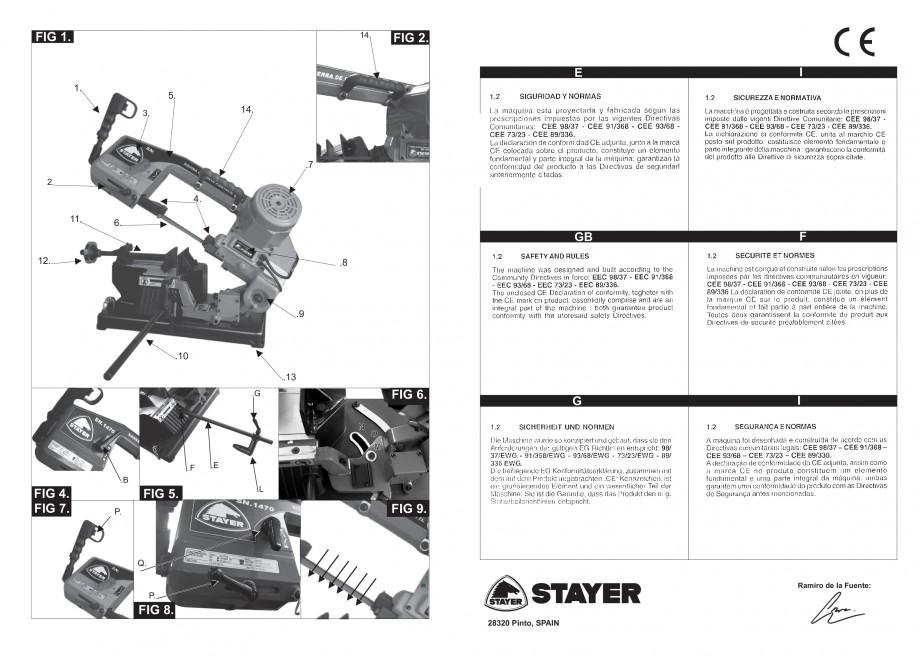 Pagina 2 - Fierastrau cu banda continua 1470x13x0.65 mm, motor prin inductie 0,5 CP - Manual STAYER ...