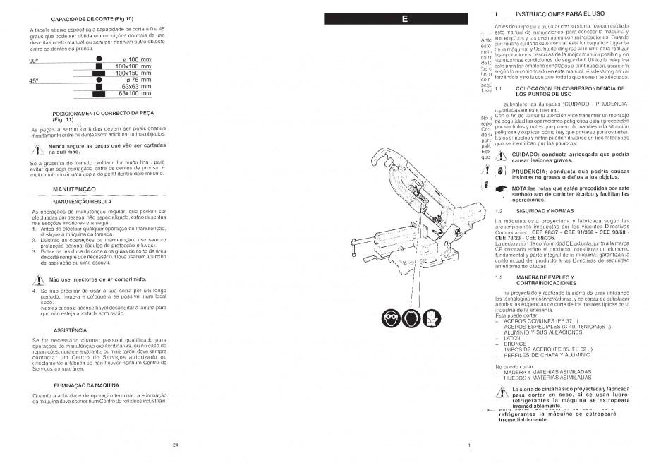 Pagina 3 - Fierastrau cu banda continua 1470x13x0.65 mm, motor prin inductie 0,5 CP - Manual STAYER ...