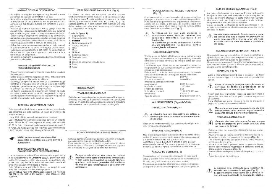 Pagina 4 - Fierastrau cu banda continua 1470x13x0.65 mm, motor prin inductie 0,5 CP - Manual STAYER ...