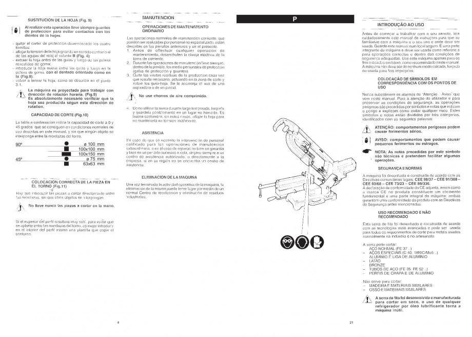 Pagina 6 - Fierastrau cu banda continua 1470x13x0.65 mm, motor prin inductie 0,5 CP - Manual STAYER ...