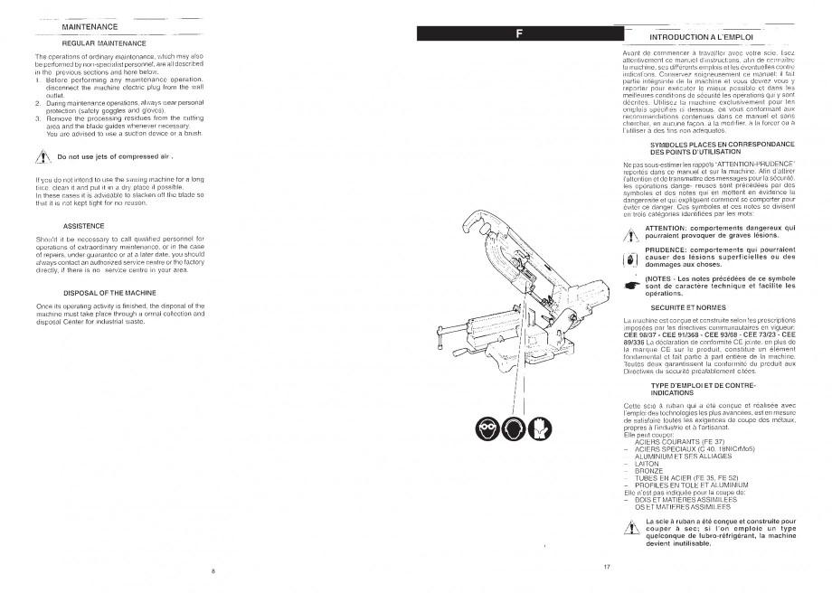 Pagina 10 - Fierastrau cu banda continua 1470x13x0.65 mm, motor prin inductie 0,5 CP - Manual STAYER...