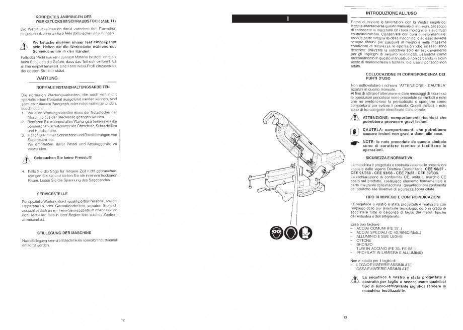 Pagina 14 - Fierastrau cu banda continua 1470x13x0.65 mm, motor prin inductie 0,5 CP - Manual STAYER...