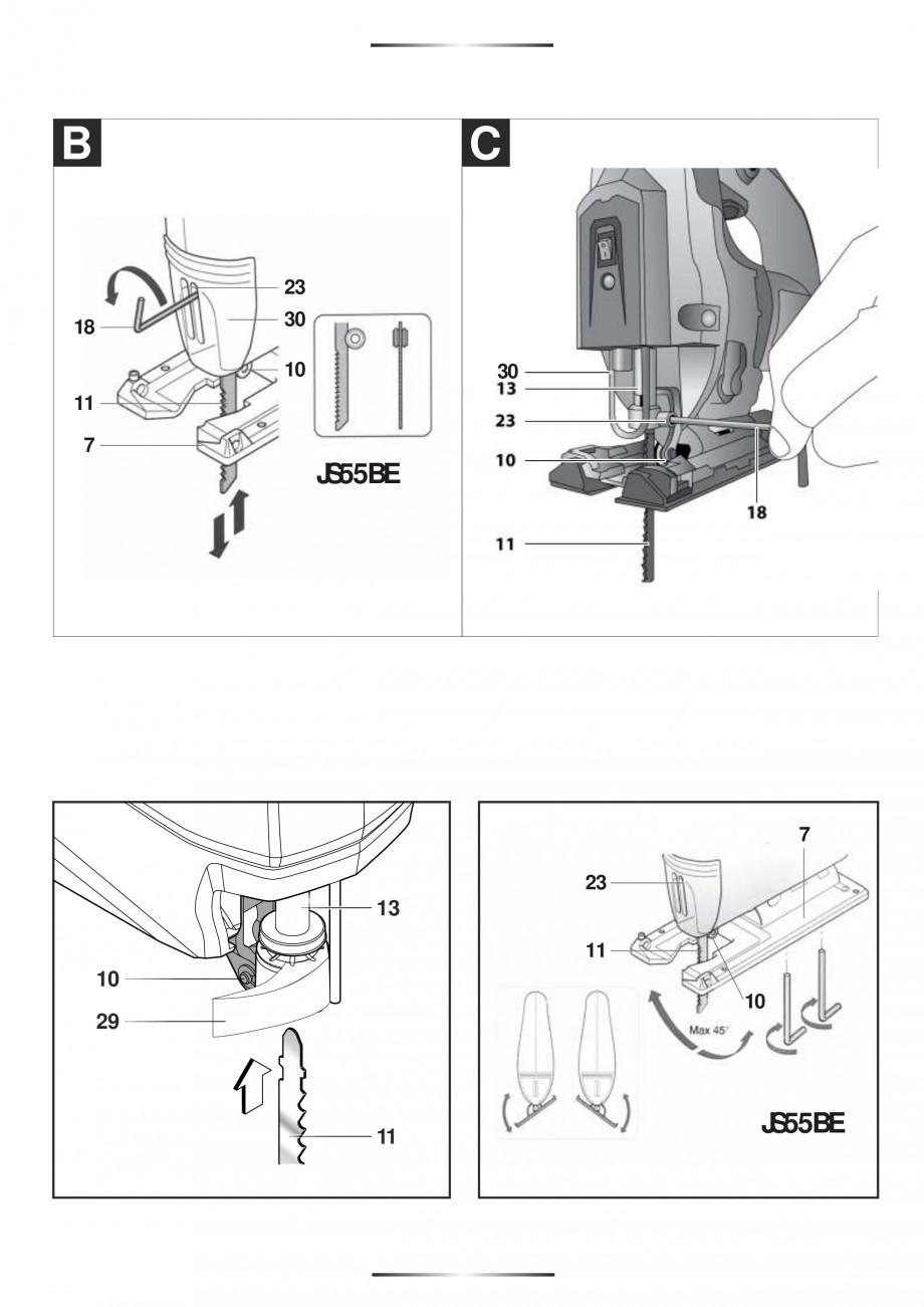Pagina 3 - Fierastraie electrice - Manual utilizare STAYER S 110PE, JS 80 PE Instructiuni montaj,...