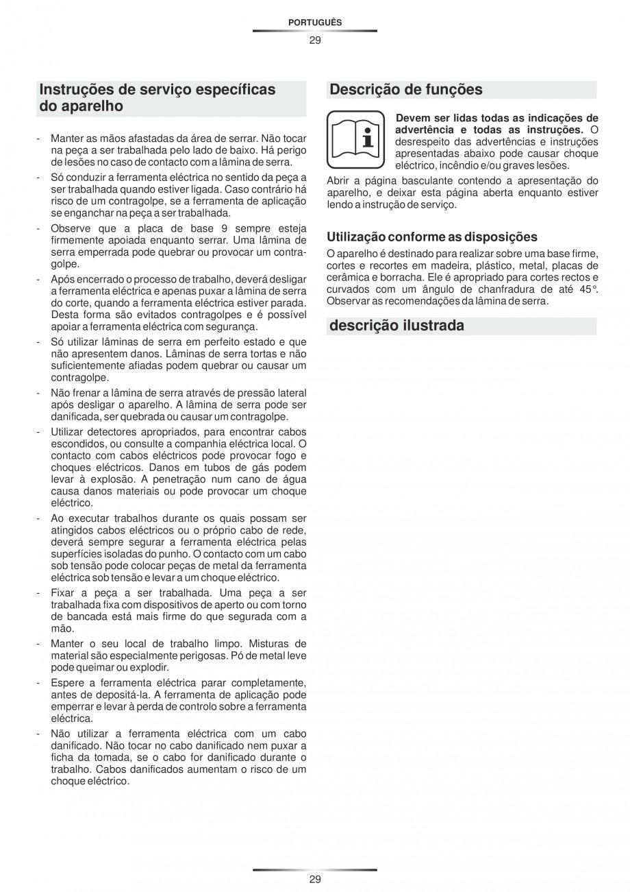 Pagina 34 - Fierastraie electrice - Manual utilizare STAYER S 110PE, JS 80 PE Instructiuni montaj,...