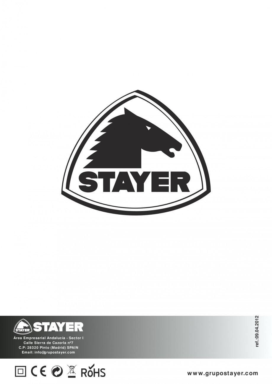 Pagina 44 - Fierastraie electrice - Manual utilizare STAYER S 110PE, JS 80 PE Instructiuni montaj,...