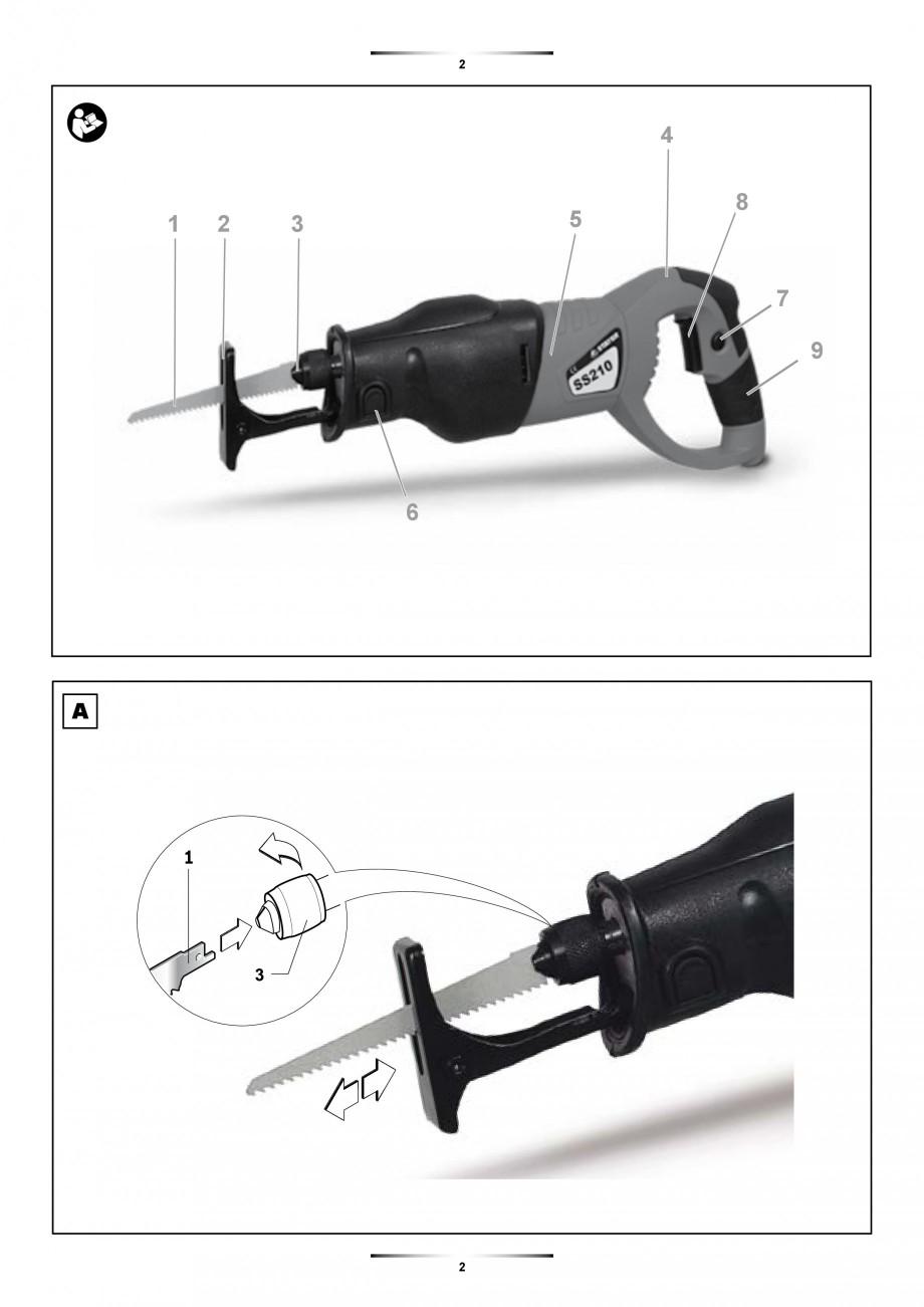 Pagina 2 - Fierastrau sabie 850 W - Manual utilizare STAYER SS 210  Instructiuni montaj, utilizare...