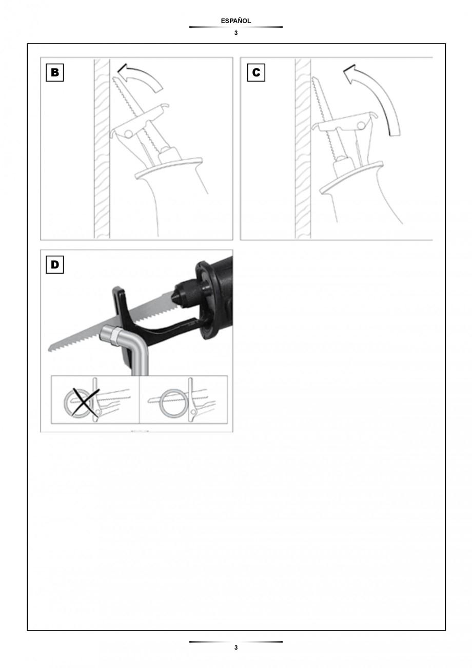 Pagina 3 - Fierastrau sabie 850 W - Manual utilizare STAYER SS 210  Instructiuni montaj, utilizare...