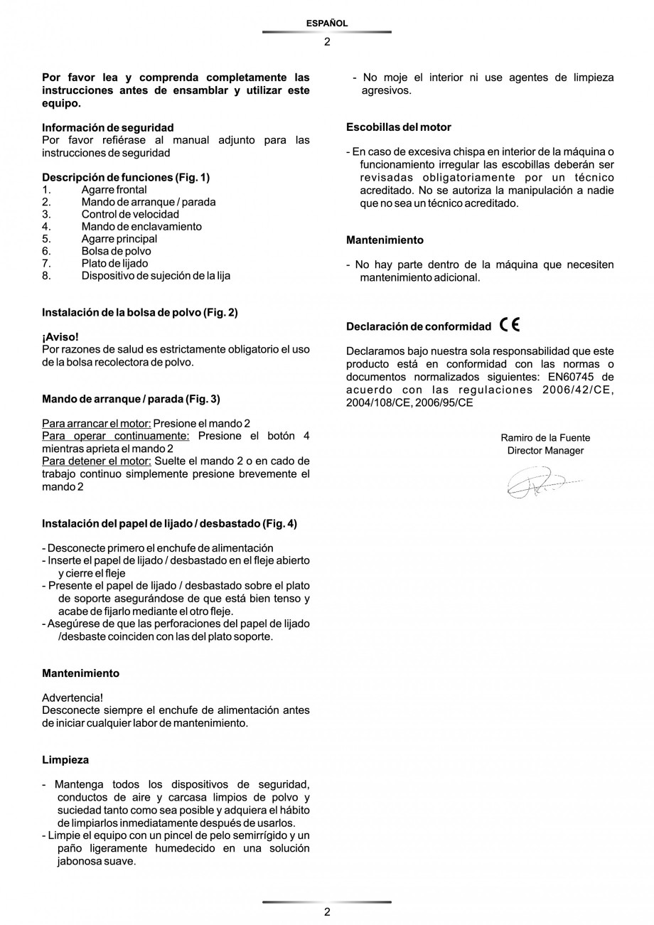 Pagina 3 - Slefuitor Delta 180 W - Manual STAYER LD 140 Instructiuni montaj, utilizare Engleza,...