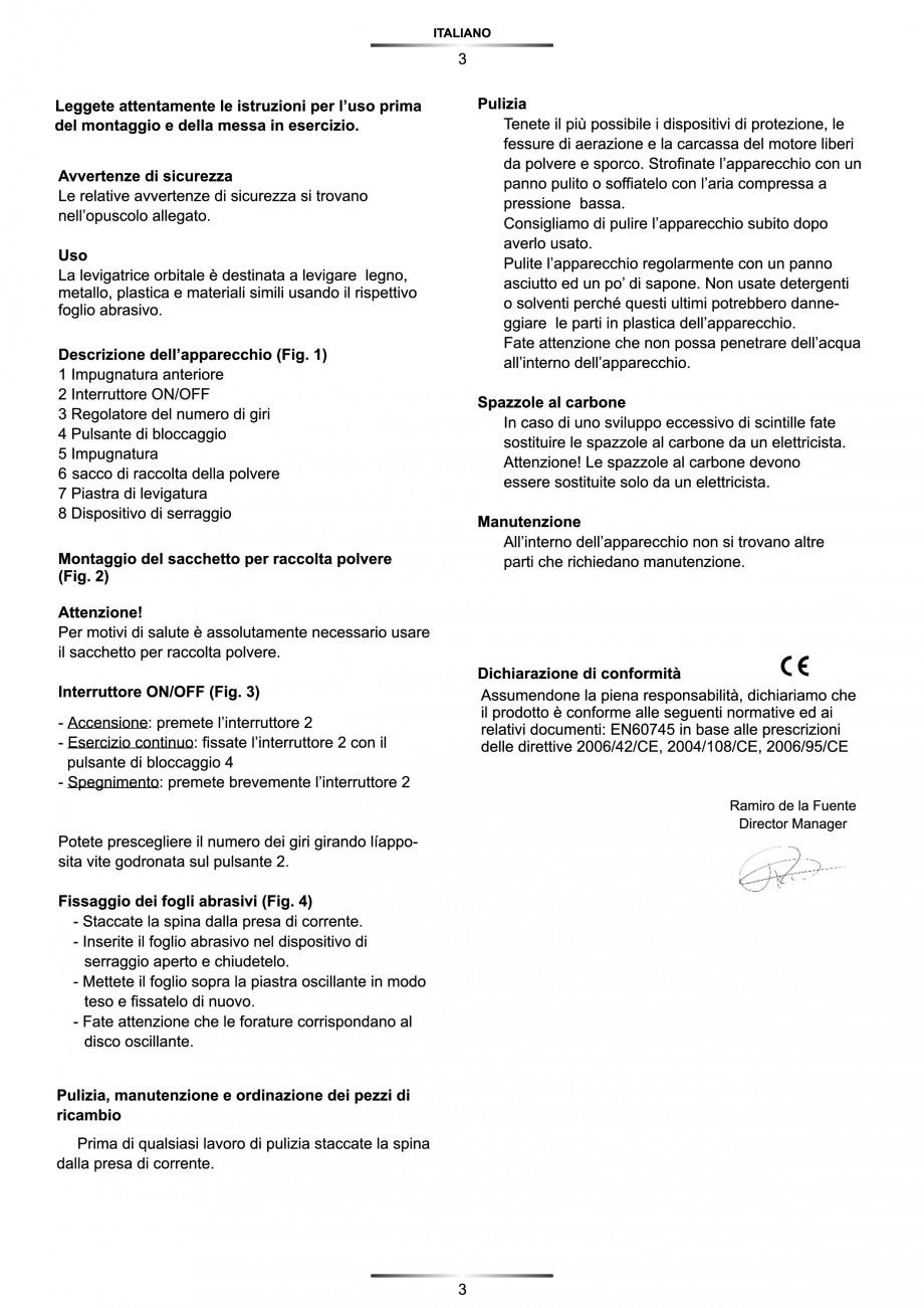 Pagina 4 - Slefuitor Delta 180 W - Manual STAYER LD 140 Instructiuni montaj, utilizare Engleza,...